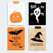 Halloween Card Invitation Cute Halloween Party Cards Invitations Pumpkin Ghost Bat