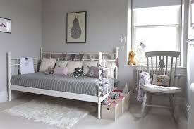 grey and yellow bedroom walls gray bed green pillow brown wall