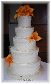 wedding cake wedding cake lace calla lilies