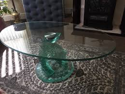 spiral glass coffee table in liverpool city centre merseyside