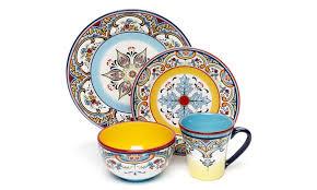 ceramica 16 zanzibar dinnerware set groupon