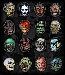 Skull Shower Curtain Hooks Classic Vintage Horror Comics Characters Shower Curtain