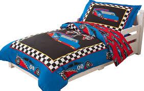 amazon com kidkraft toddler racecar bedding set 4 piece toys