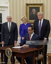 steven mnuchin is sworn in as treasury secretary photos and images