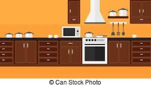 fonds de cuisine appliances fond cuisine plat appareils illustration