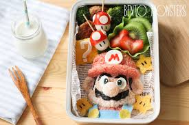 food arrangements of two creates adorable bento lunches for sons