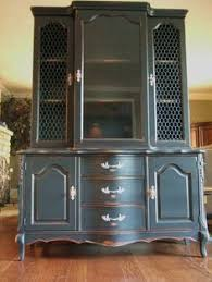 Country Hutch Furniture French Provincial Hamptons Country Buffet And Hutch Sideboard Grey