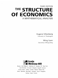 silberberg the structure of economics 3rd ed pdf