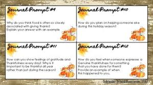 thanksgiving journal middle school and high school thanksgiving journal prompts by a