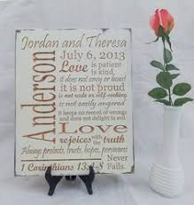 personalized wedding plaque wedding gift personalized christian marriage blessing prayer