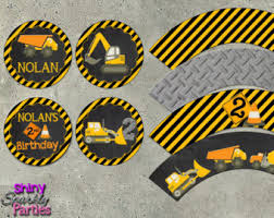 Construction Party Centerpieces by Construction Cupcake Toppers Dump Truck Cupcake Topper