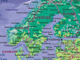 map of sweden of sweden