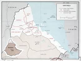 africa map eritrea large scale political and administrative map of eritrea with major