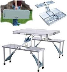 portable folding picnic table k kudos enterprise k k udos enterrpise new heavy duty aluminium