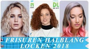 Bob Frisuren Damen Locken by Frisurentrends Damen Locken Halblang 2018