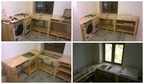 cuisine en palette bois idee palette en bois great table basse avec palette en bois sur