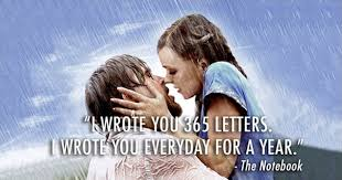 letters the notebook movie quote