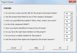 Six Sigma Project Charter Template Excel Project Charter Sigma Magic Articles