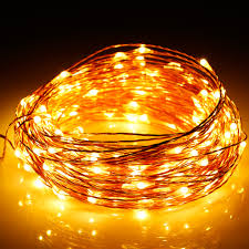 Patio String Lights White Cord by 2pcs 20m Warm White Copper Wire Starry String Lights Led Wedding