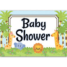 baby shower poster jungle babies baby shower poster