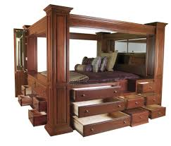 bed frame wood canopy bed frame queen home designs ideas