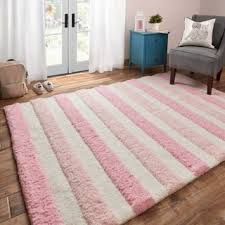 Pink And White Striped Rug Microfiber Rugs U0026 Area Rugs For Less Overstock Com