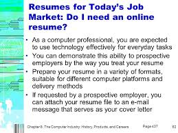 Online Resumes For Employers by