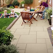 family garden ideas marshalls paving manmade u0027saxon u0027 natural paving slabs patios and