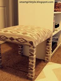 smartgirlstyle ikea lack table into padded bench