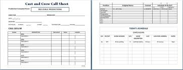 cast and crew call sheet microsoft templates pinterest template