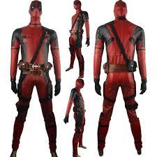 Super Hero Halloween Costumes Men Deadpool Wade Wilson Deluxe Jumpsuit Superhero