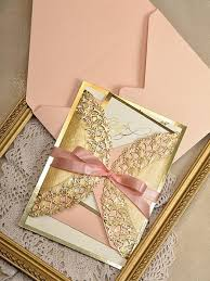 wedding invitations gold coral and gold wedding invitations 4536