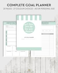 printable planner pages and inserts by organisewithkatie on etsy
