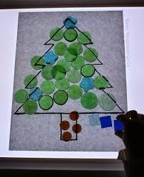 christmas loose parts play on the light table free printable