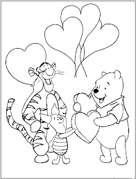 pooh valentine coloring pages to print kids u0027 projects ideas