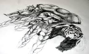 a pirate tattoo design dark design graphics
