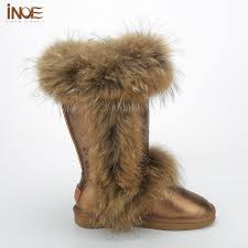 s boots with fur inoe fur boots split leather s high boot winter