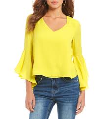 yellow blouse yellow s casual dressy tops blouses dillards com