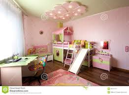 modern design of a child room interior in pastel colors stock