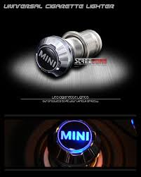 Mini Cooper 12v Car Power Plug 18mm Blue Led Cigarette Lighter
