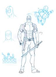 deadpool sketches by bou87 on deviantart