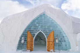 Hotel De Glace Village Vacances Valcartier Quebec Touring An Ice Hotel And Snow