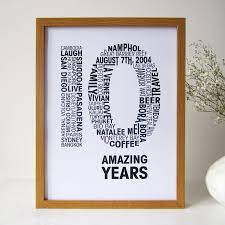 10th year wedding anniversary personalised anniversary print by mrs l cards notonthehighstreet