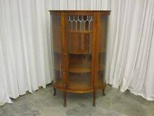 antique curio cabinet with curved glass curved glass china cabinet ebay