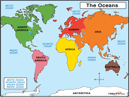 world map oceans seas bays lakes map world oceans major tourist attractions maps