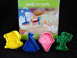 silikomart cutter plunger set of 4 summer holiday cookies