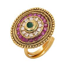 antique gold rings images Adwitiya 24k gold plated royal ad studded beautiful middle finger jpg