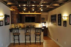 Ideas For Drop Ceilings In Basements Interior Rustic Basement Ceiling Ideas Regarding Marvelous
