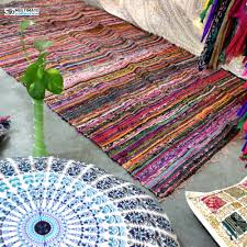 Fabric Rug Buy Cheap Decorative Rag Rug Hand Loomed Chindi