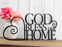 black friday god bless our home metal sign heart